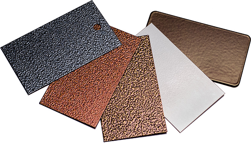 Samples of finishes